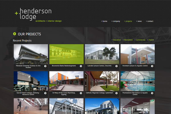 Henderson + Lodge Website