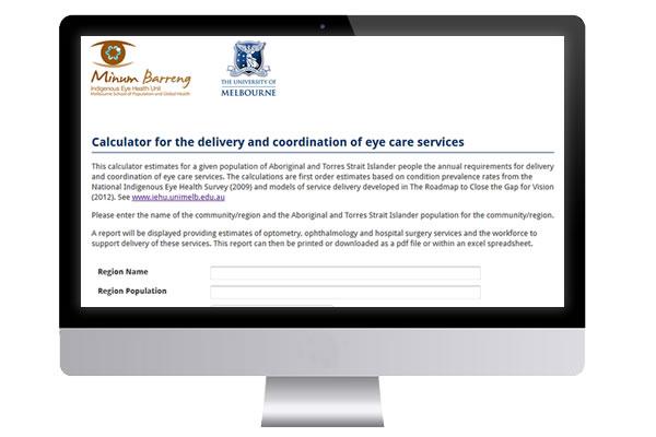 IEHU Eye Care Services Calculator