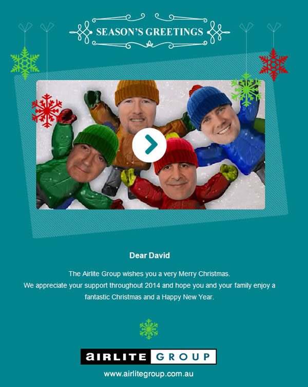Christmas Emails Airlite