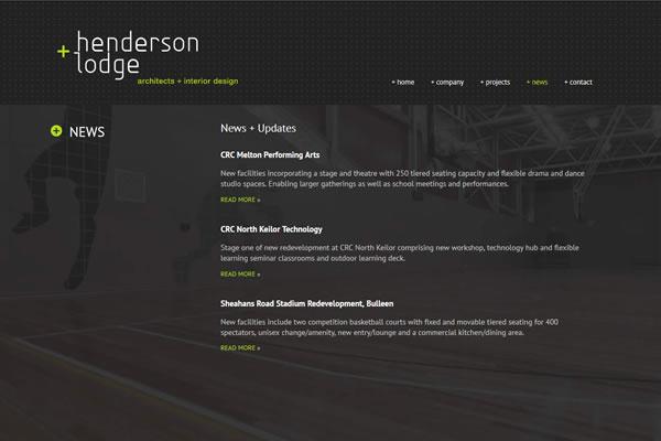 Henderson + Lodge Website