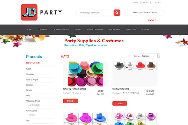 JD Party Website