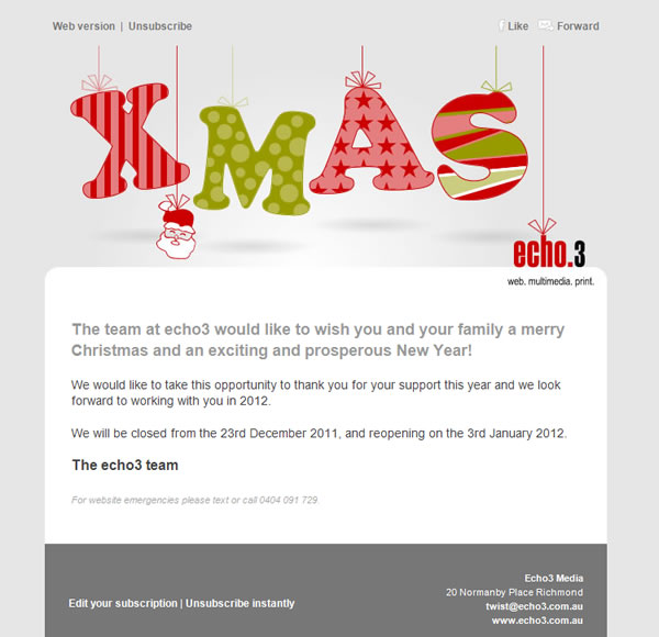 Christmas Emails Echo3